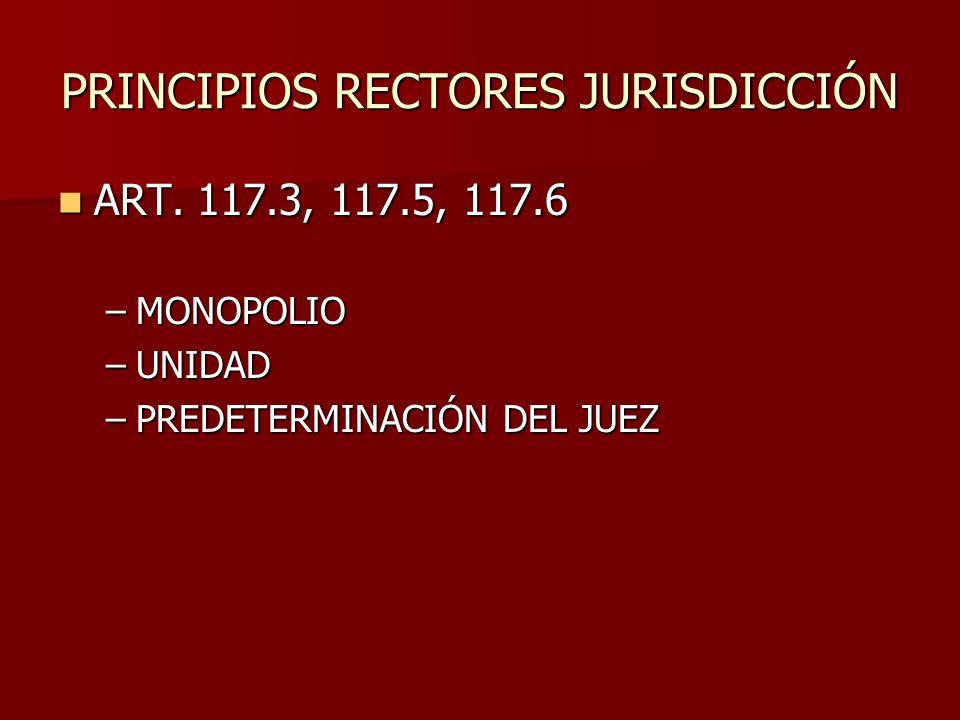 PRINCIPIOS RECTORES JURISDICCIÓN