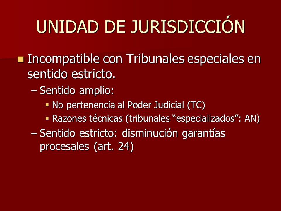 UNIDAD DE JURISDICCIÓN