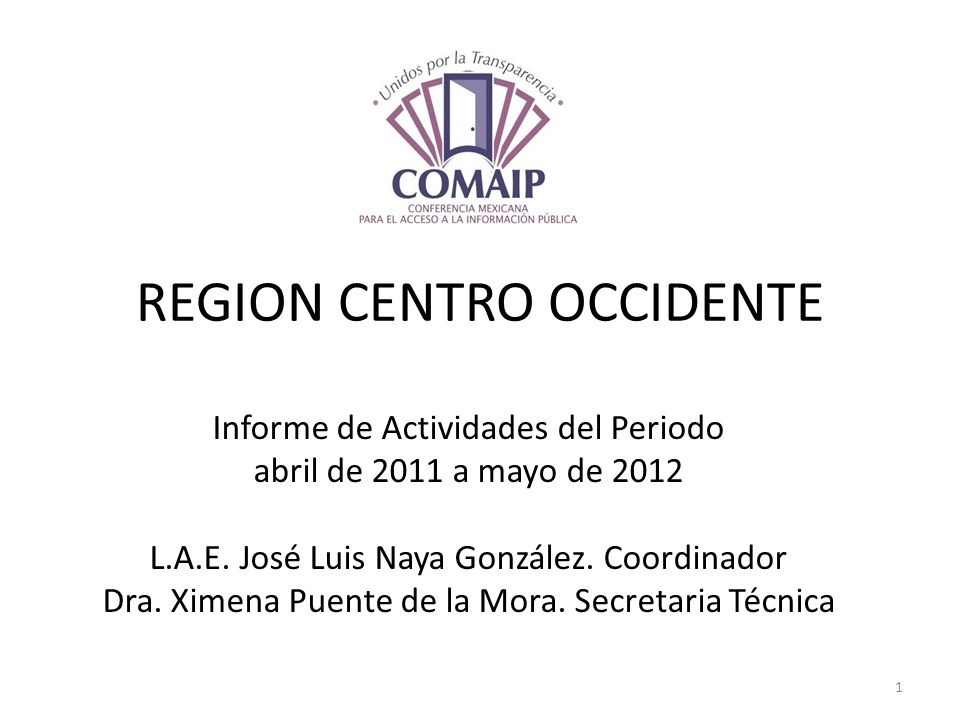 REGION CENTRO OCCIDENTE