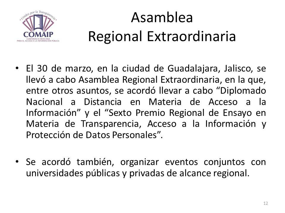Asamblea Regional Extraordinaria