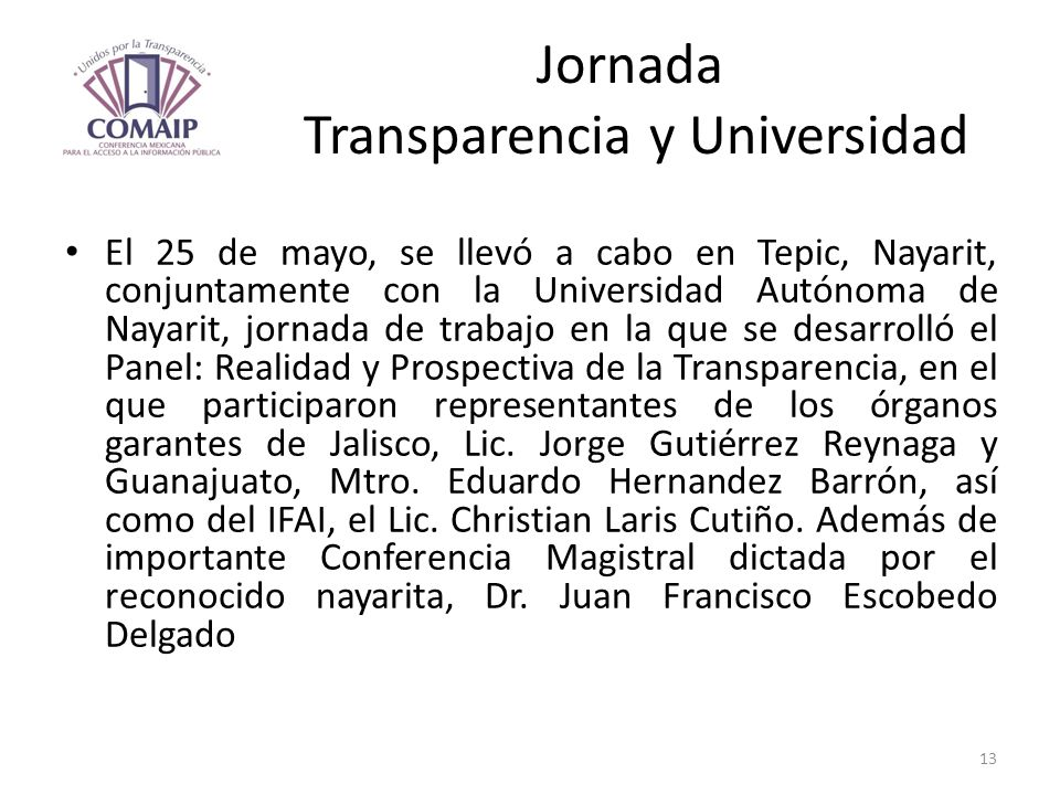 Jornada Transparencia y Universidad