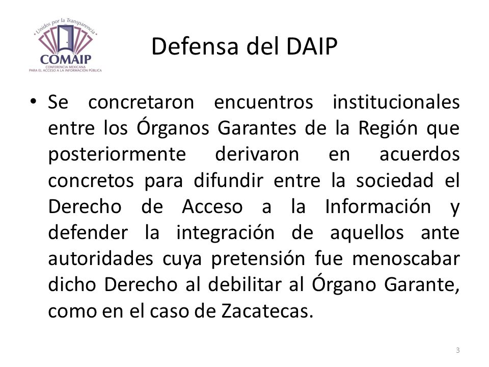 Defensa del DAIP