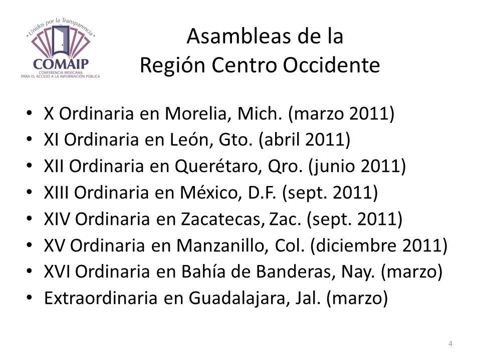 Asambleas de la Región Centro Occidente