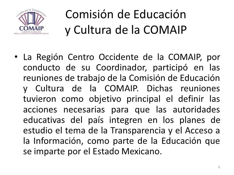 Comisión de Educación y Cultura de la COMAIP