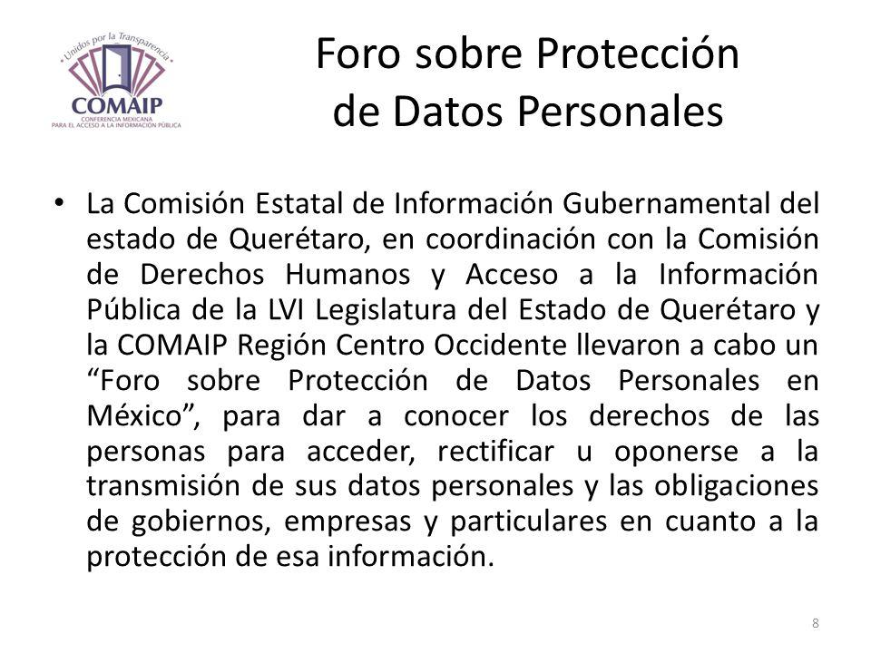 Foro sobre Protección de Datos Personales
