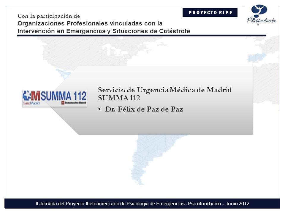 Servicio de Urgencia Médica de Madrid SUMMA 112