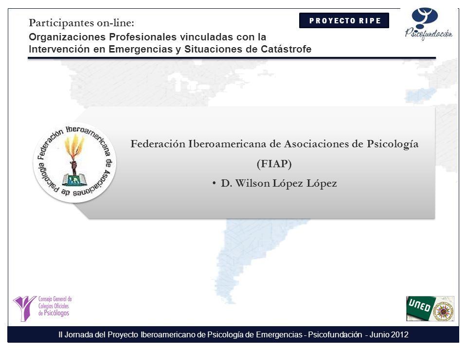 Federación Iberoamericana de Asociaciones de Psicología (FIAP)