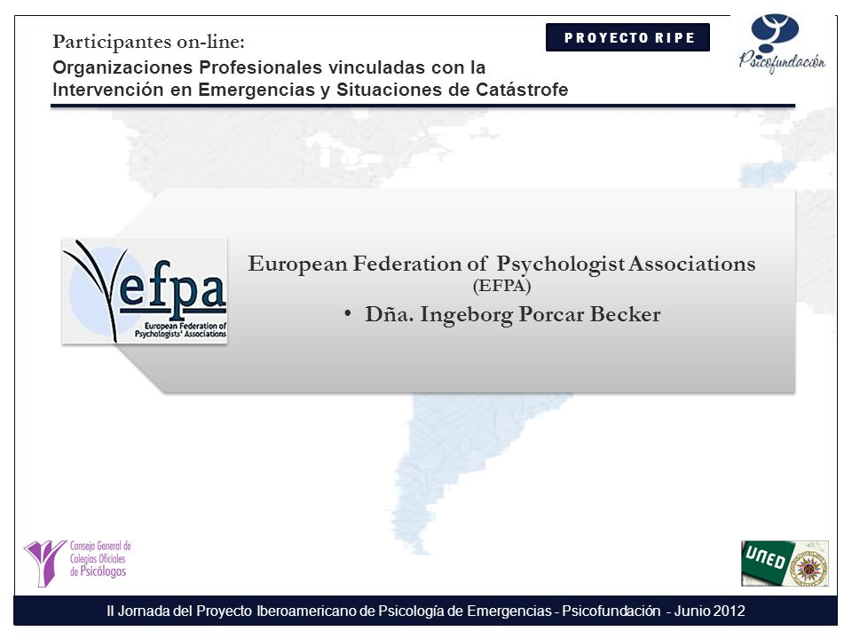 European Federation of Psychologist Associations (EFPA)
