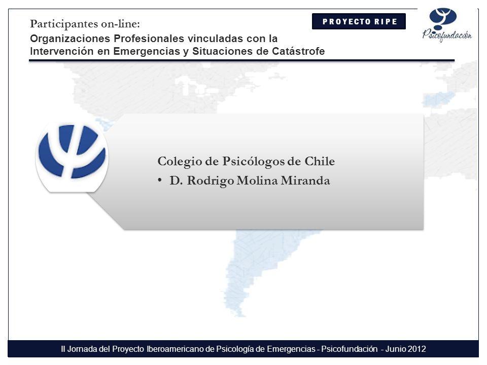 Colegio de Psicólogos de Chile D. Rodrigo Molina Miranda