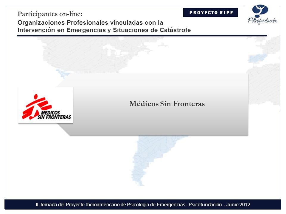 Médicos Sin Fronteras Participantes on-line: