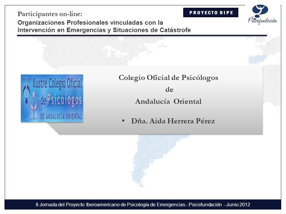Colegio Oficial de Psicólogos de Andalucía Oriental