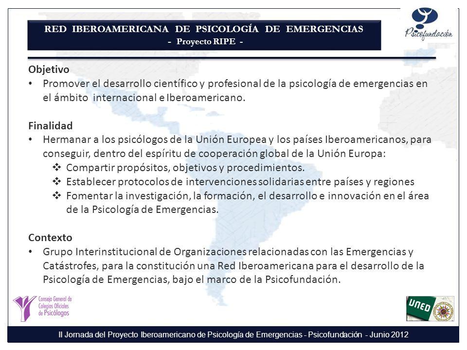 RED IBEROAMERICANA DE PSICOLOGÍA DE EMERGENCIAS