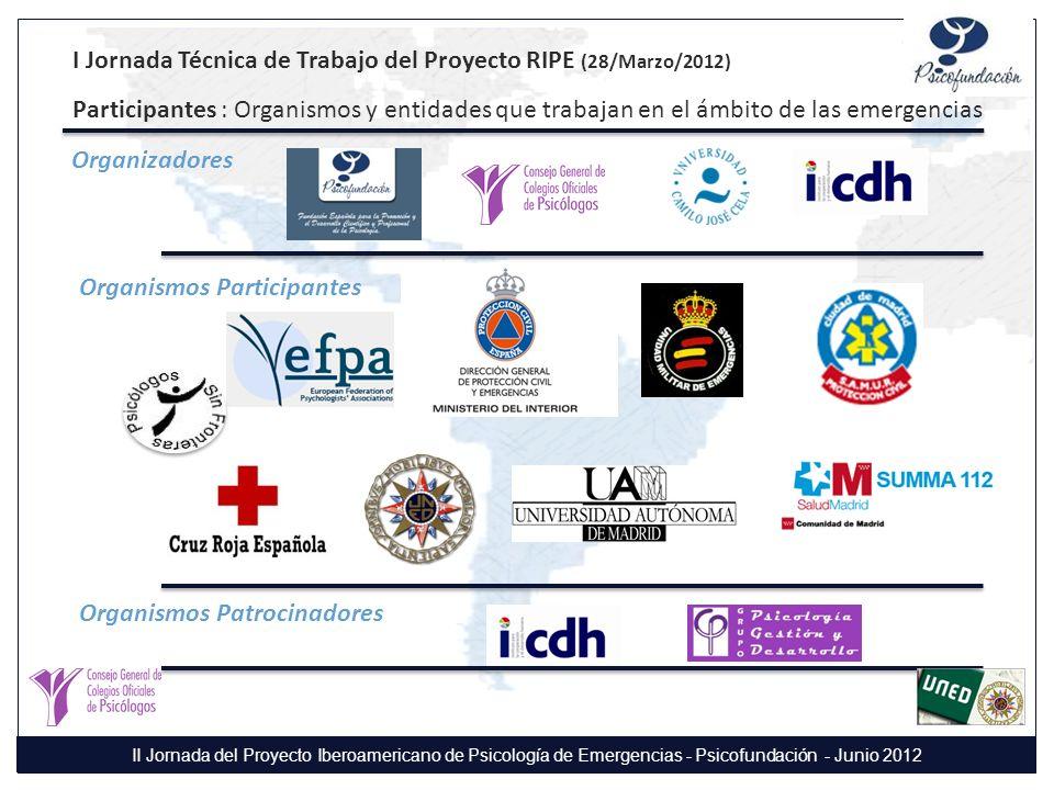 I Jornada Técnica de Trabajo del Proyecto RIPE (28/Marzo/2012)