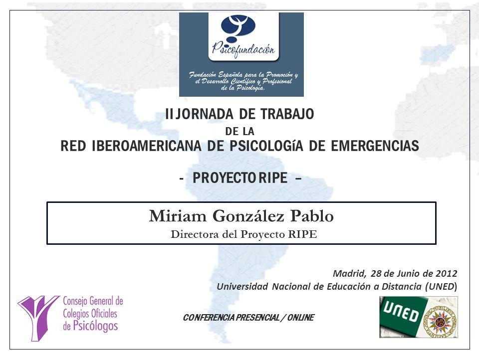 Directora del Proyecto RIPE CONFERENCIA PRESENCIAL / ONLINE