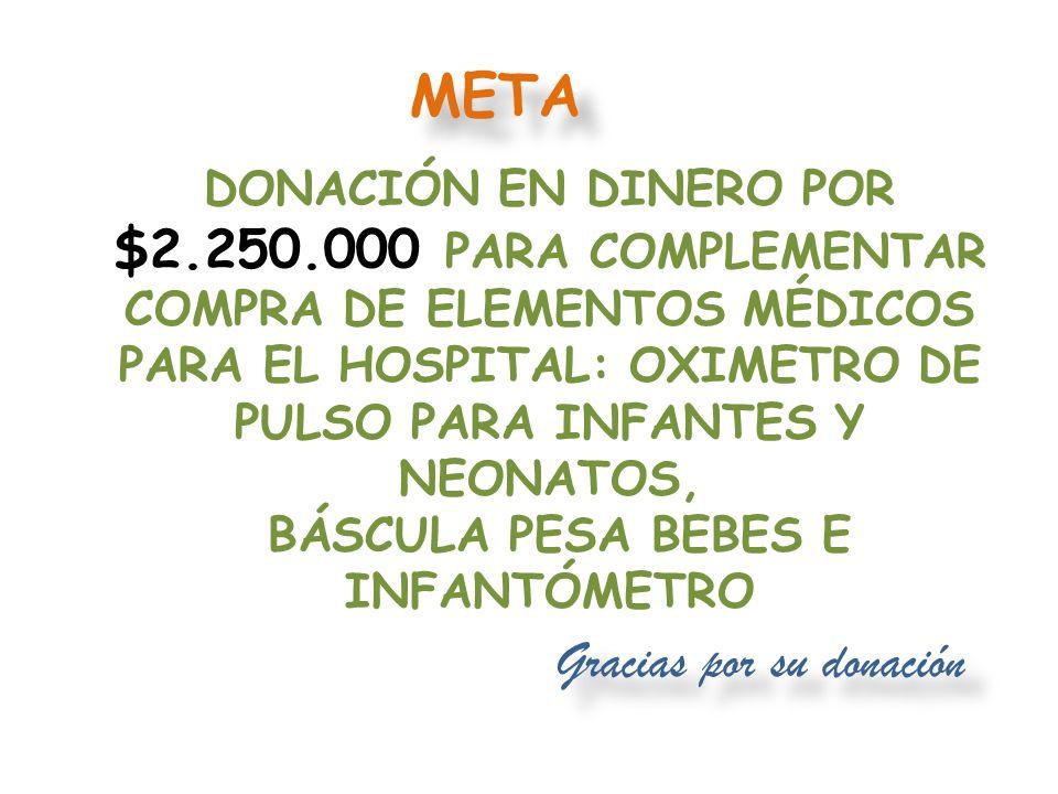 Gracias por su donación