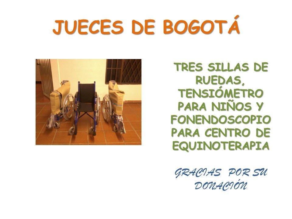 JUECES DE BOGOTÁ GRACIAS POR SU DONACIÓN
