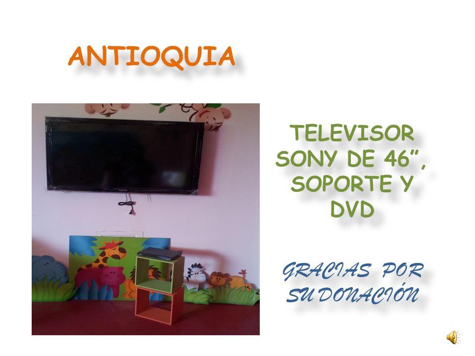 TELEVISOR SONY DE 46 , SOPORTE Y DVD GRACIAS POR SU DONACIÓN