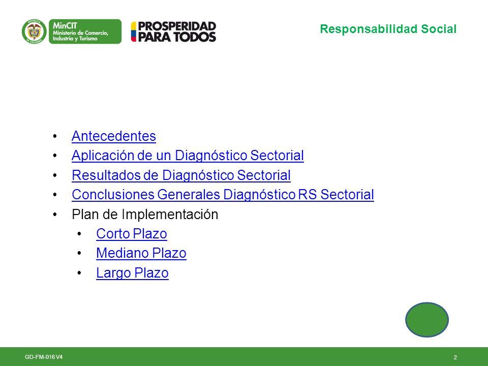 Aplicación de un Diagnóstico Sectorial