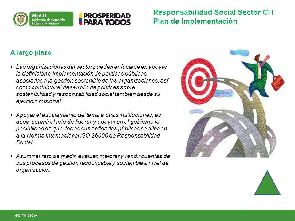 Responsabilidad Social Sector CIT Plan de Implementación