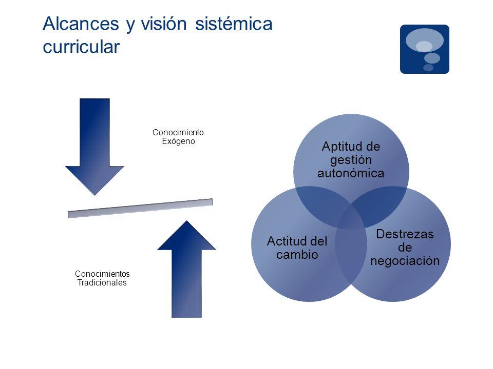 Alcances y visión sistémica curricular