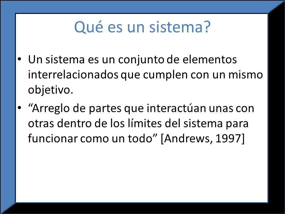 Qué es un sistema Un sistema es un conjunto de elementos interrelacionados que cumplen con un mismo objetivo.