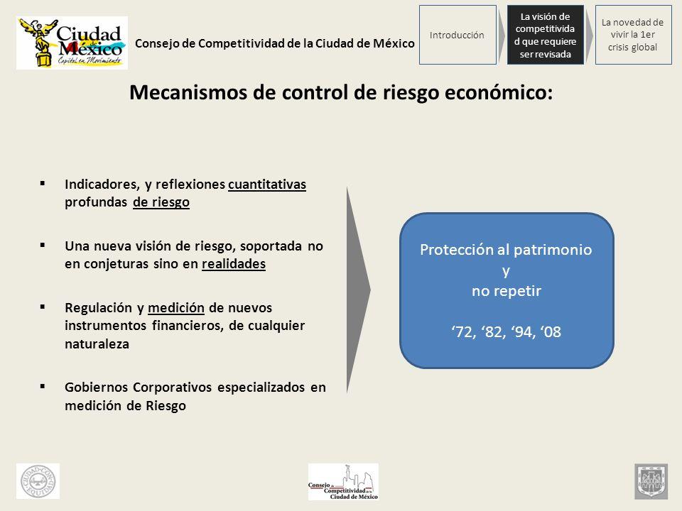 Mecanismos de control de riesgo económico: