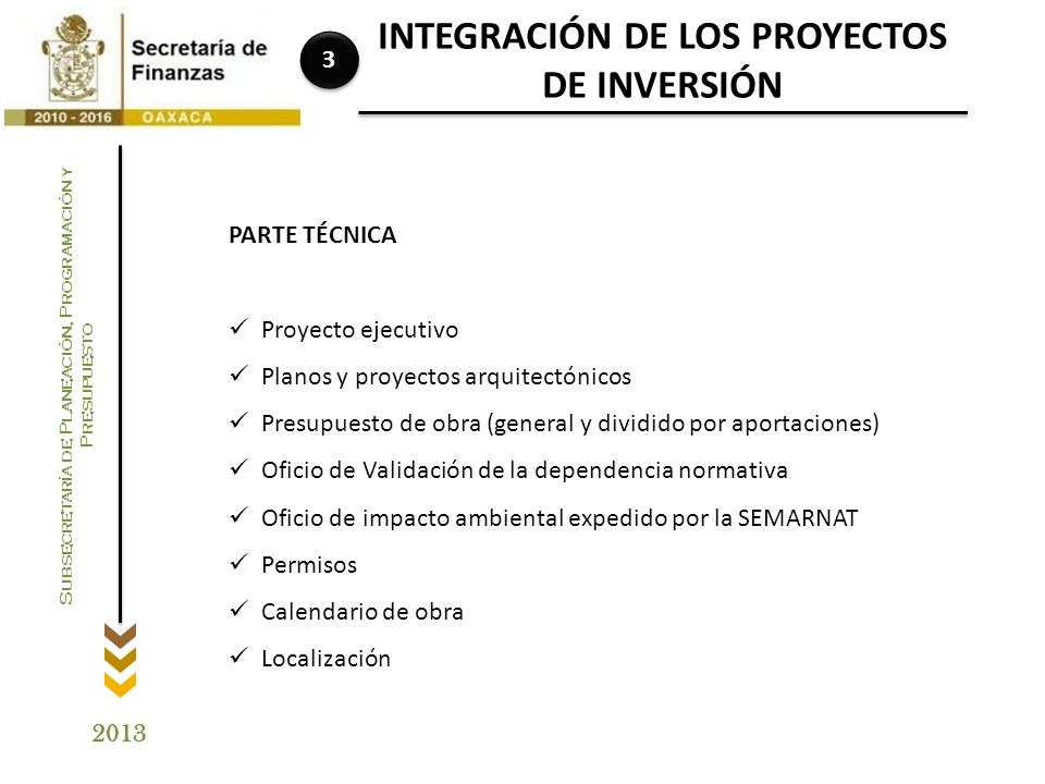 INTEGRACIÓN DE LOS PROYECTOS DE INVERSIÓN
