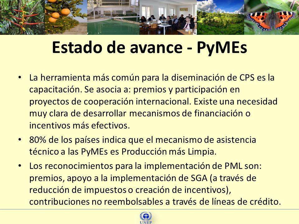 Estado de avance - PyMEs