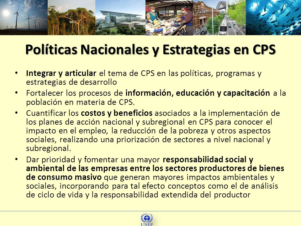 Políticas Nacionales y Estrategias en CPS