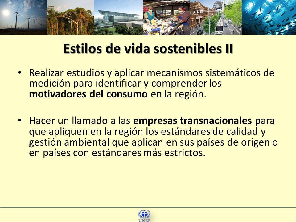 Estilos de vida sostenibles II