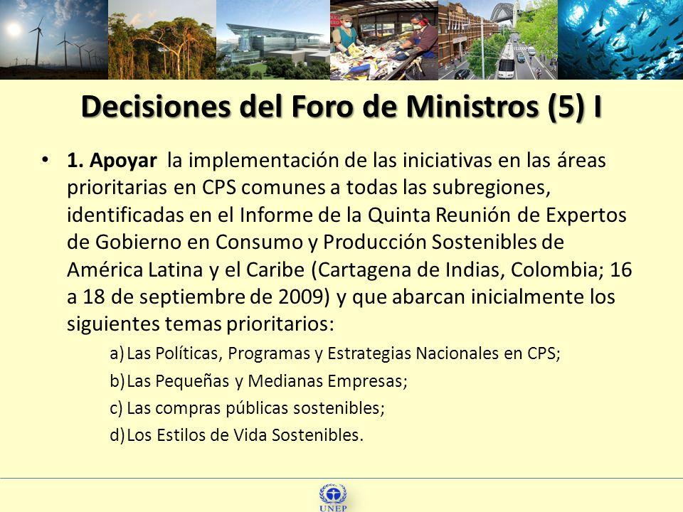 Decisiones del Foro de Ministros (5) I