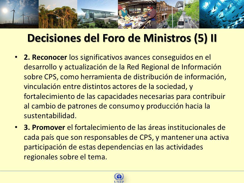 Decisiones del Foro de Ministros (5) II