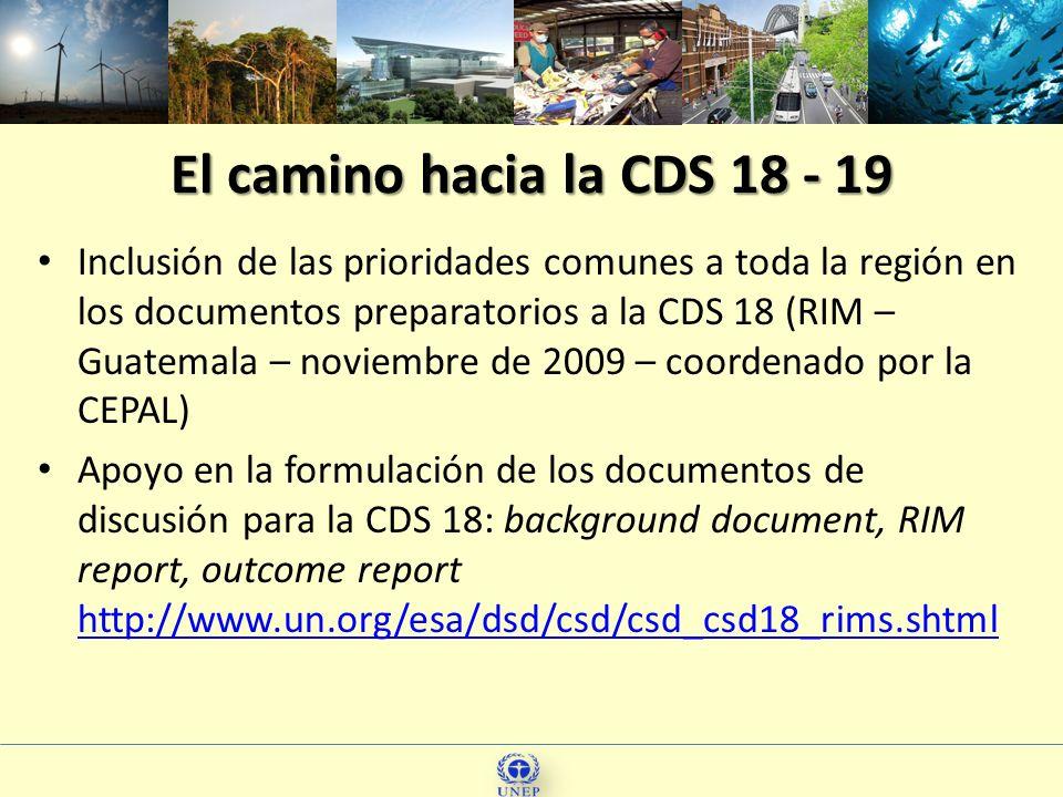 El camino hacia la CDS 18 - 19