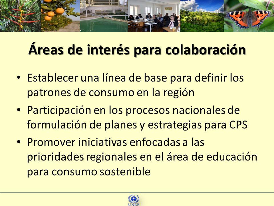 Áreas de interés para colaboración