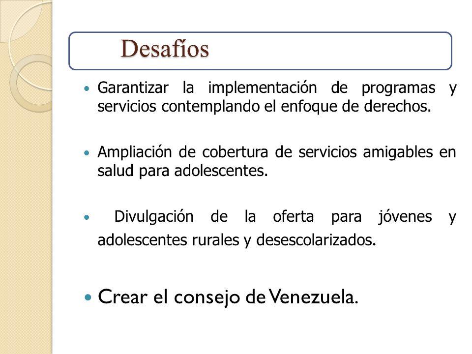 Desafíos Crear el consejo de Venezuela.