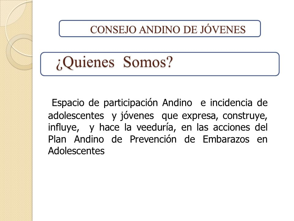CONSEJO ANDINO DE JÓVENES