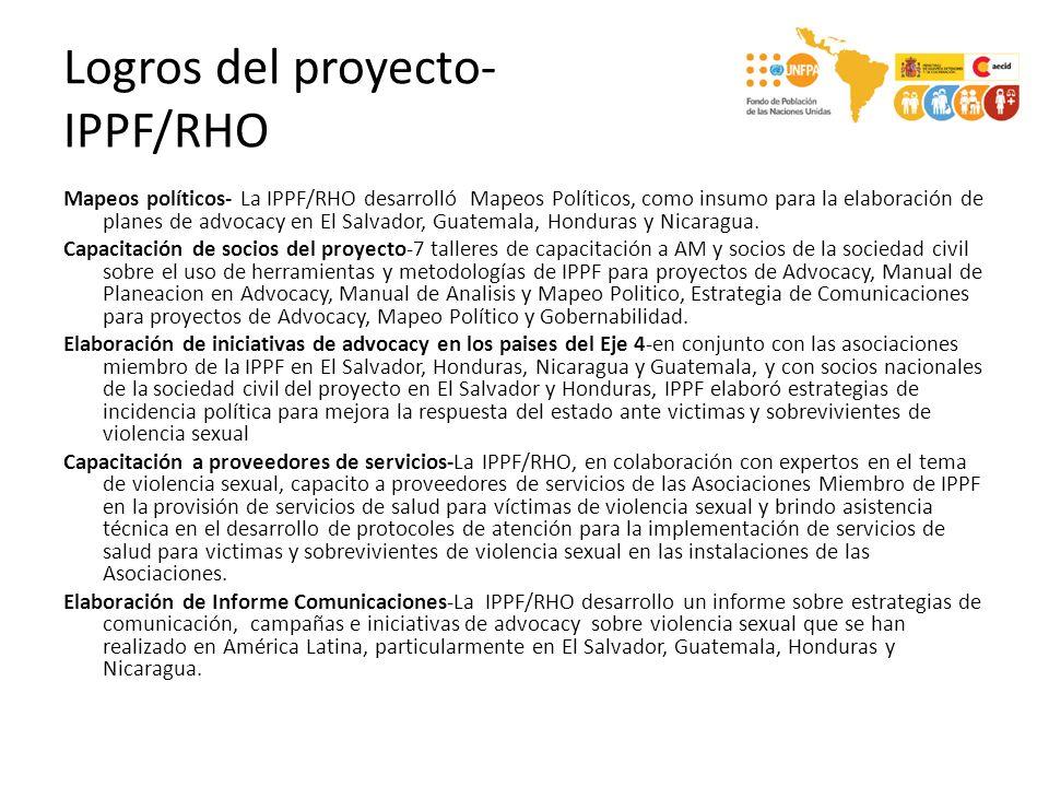 Logros del proyecto- IPPF/RHO