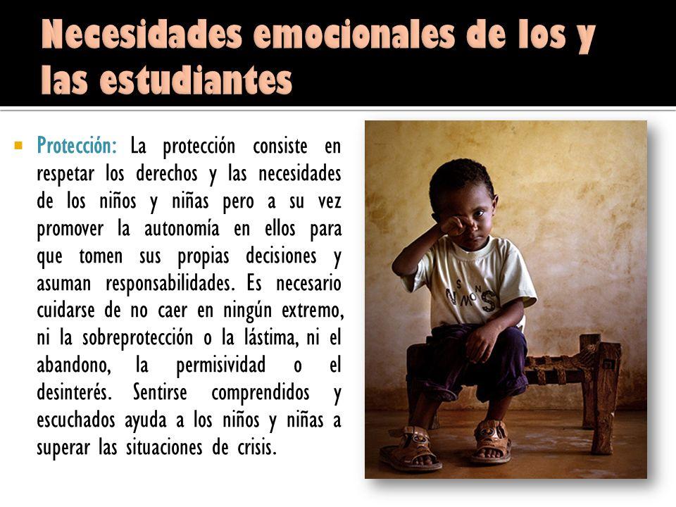 Necesidades emocionales de los y las estudiantes