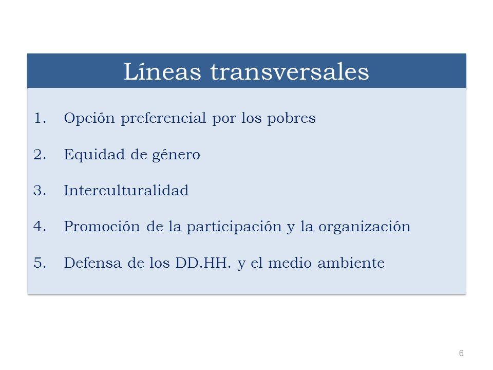 Líneas transversales Opción preferencial por los pobres