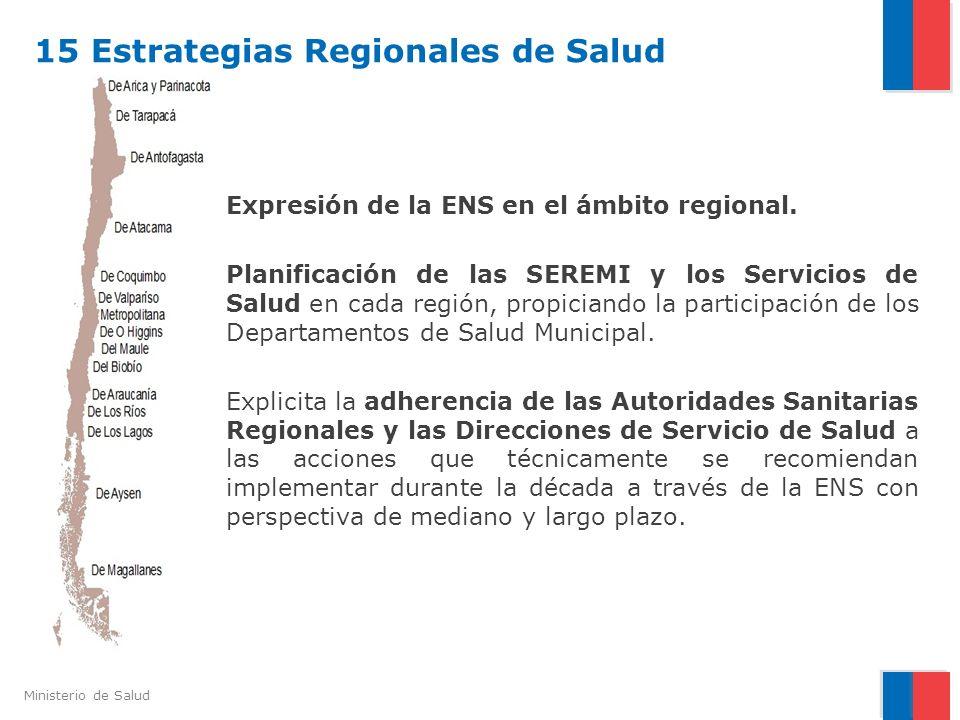 15 Estrategias Regionales de Salud