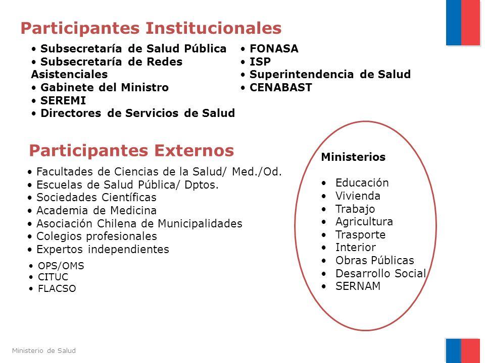 Participantes Institucionales