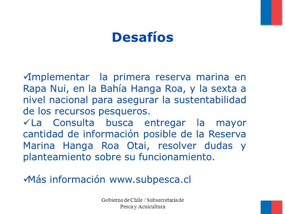 Gobierno de Chile / Subsecretaría de Pesca y Acuicultura