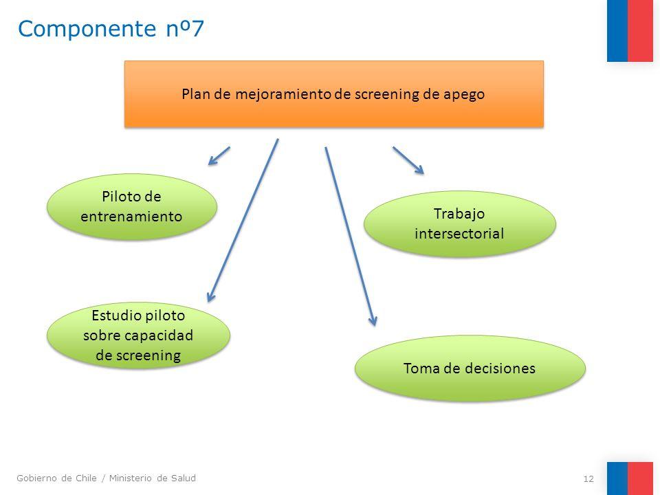 Componente nº7 Plan de mejoramiento de screening de apego