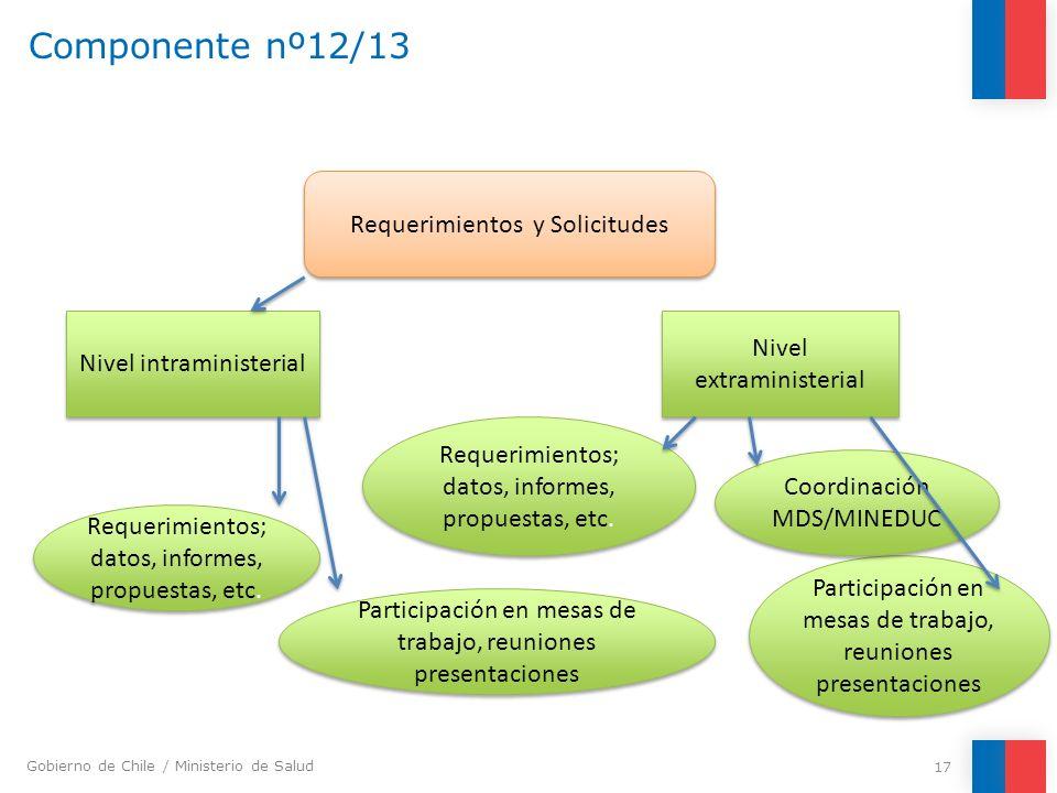 Componente nº12/13 Requerimientos y Solicitudes Nivel extraministerial