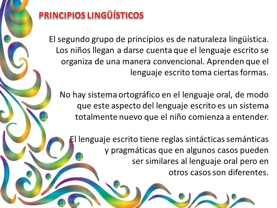 PRINCIPIOS LINGÜÍSTICOS
