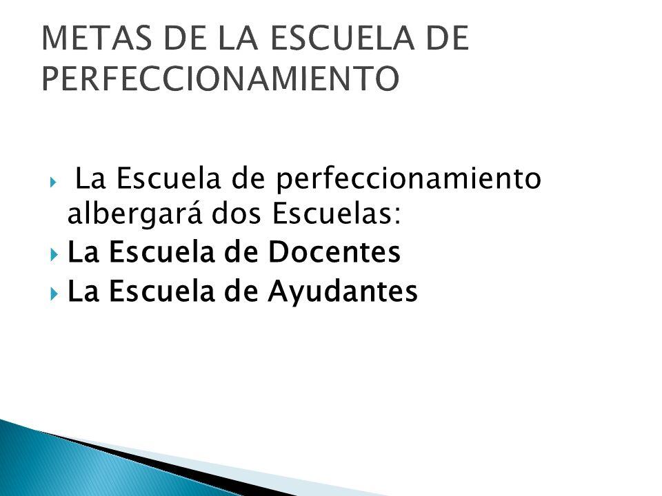 METAS DE LA ESCUELA DE PERFECCIONAMIENTO