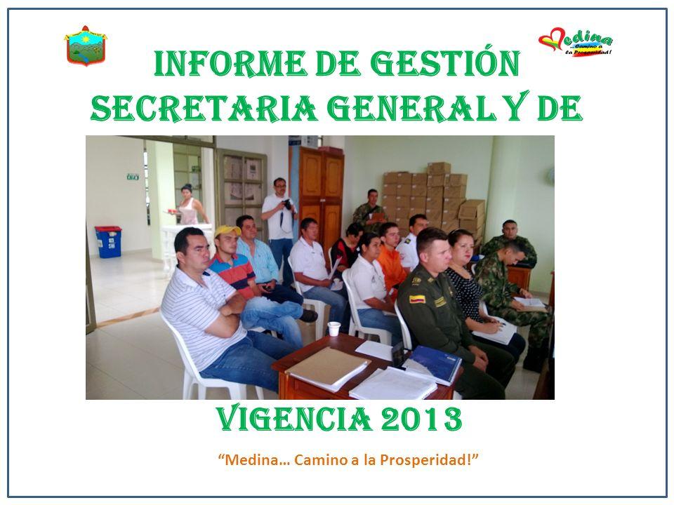 INFORME DE GESTIÓN SECRETARIA GENERAL Y DE GOBIERNO