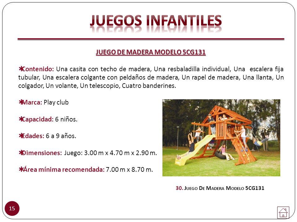 JUEGO DE MADERA MODELO 5CG131 30. Juego De Madera Modelo 5CG131