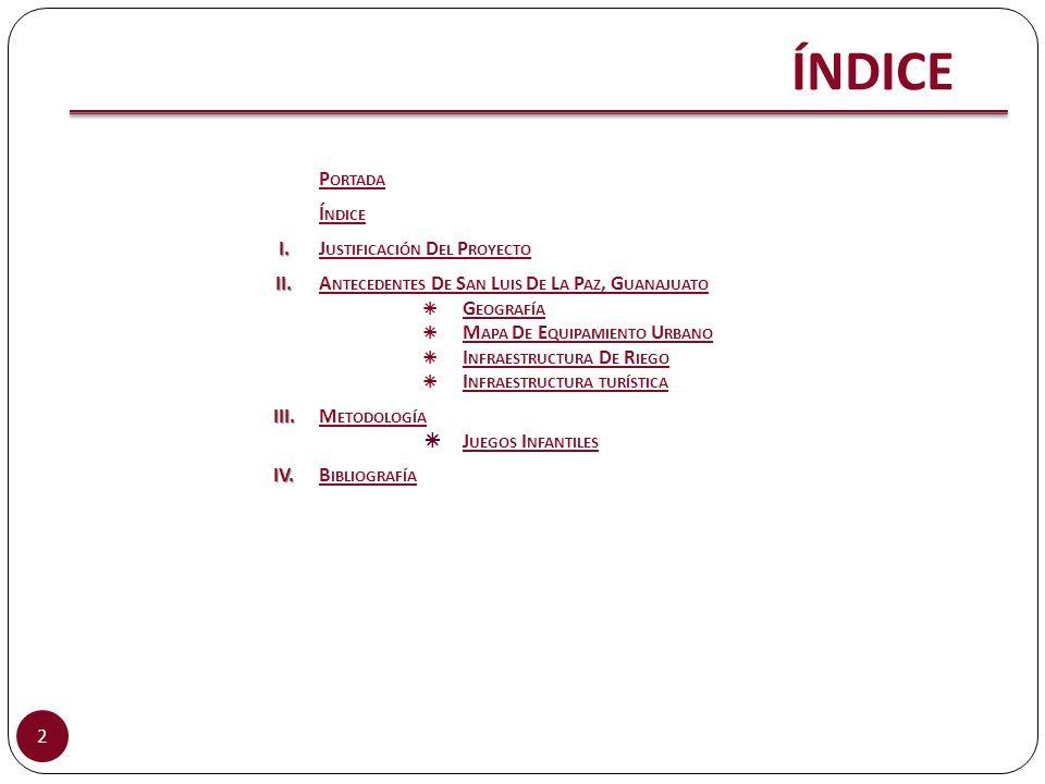 ÍNDICE Portada Índice I. Justificación Del Proyecto II.