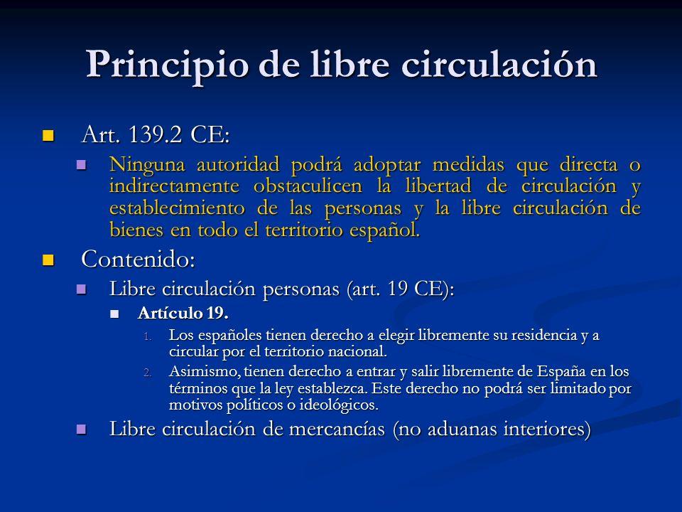 Principio de libre circulación